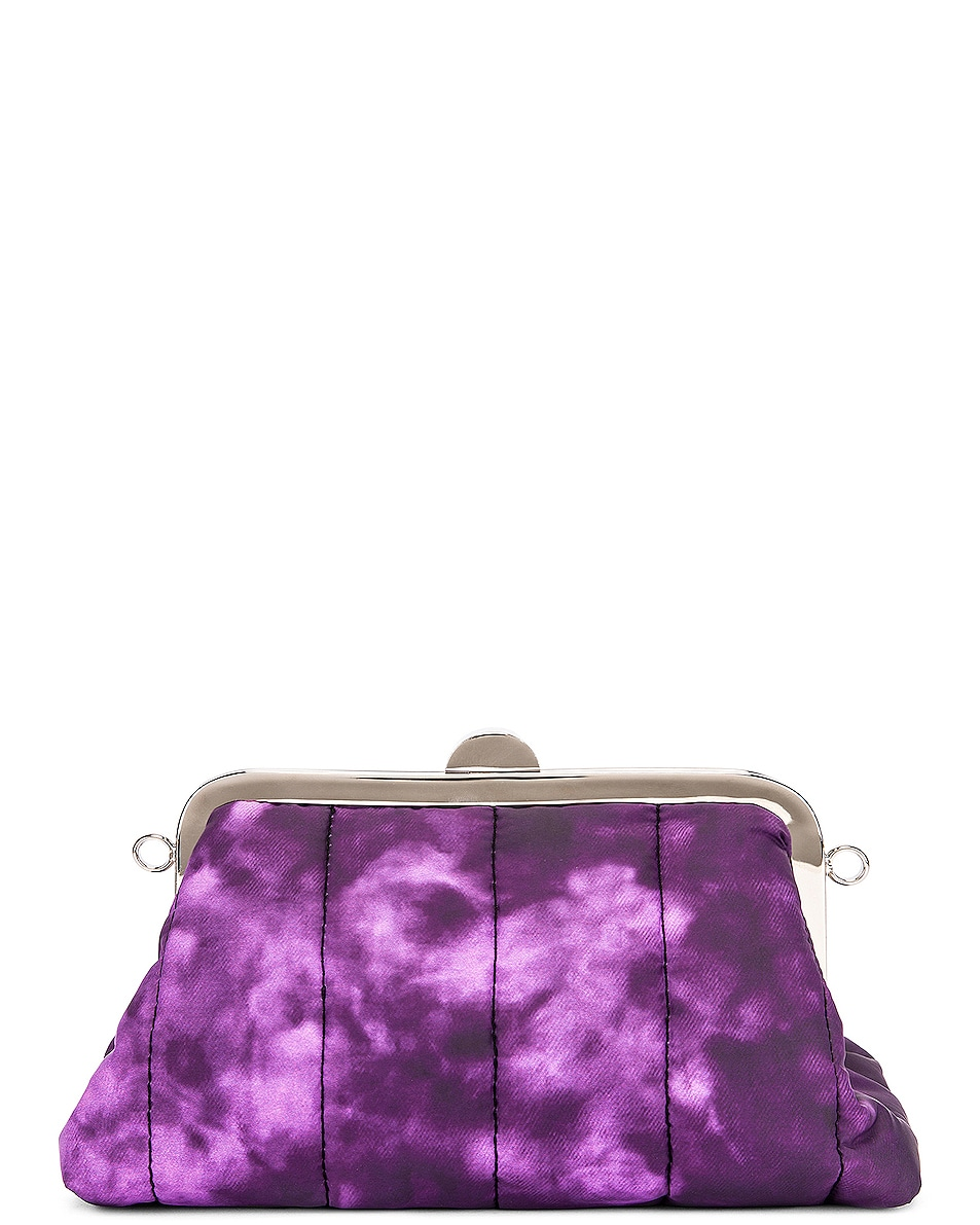 Image 2 of Marques ' Almeida Mini Padded Clasp Bag in Purple Tie Dye