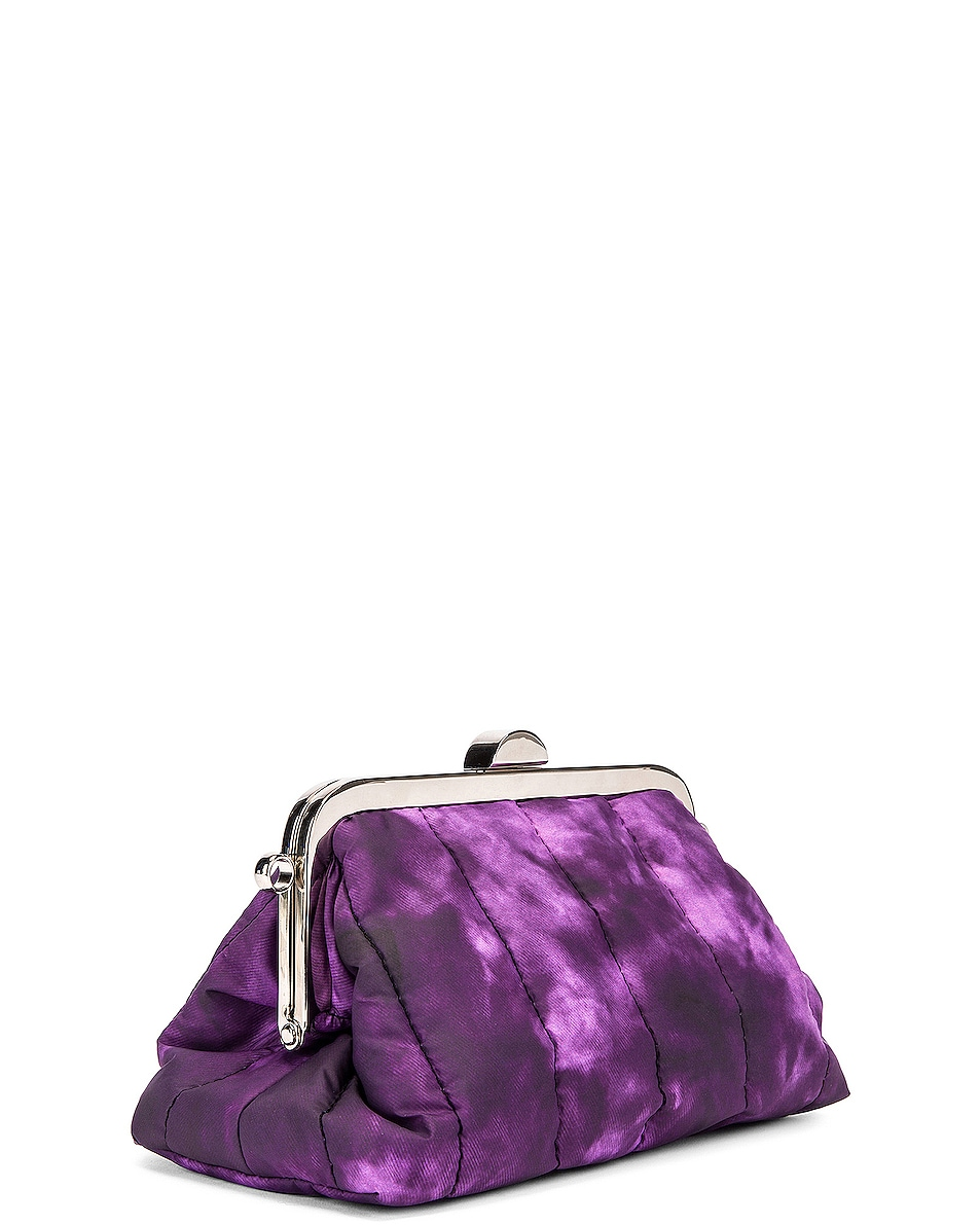 Image 3 of Marques ' Almeida Mini Padded Clasp Bag in Purple Tie Dye