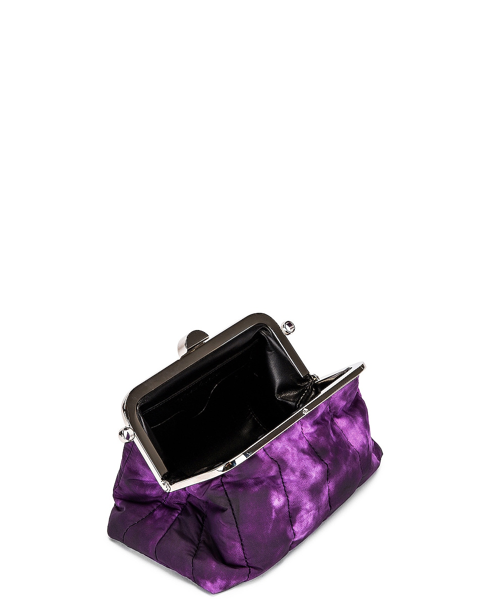Image 4 of Marques ' Almeida Mini Padded Clasp Bag in Purple Tie Dye