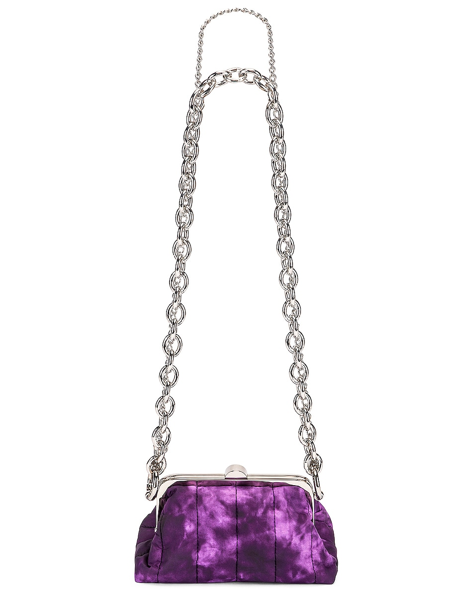 Image 5 of Marques ' Almeida Mini Padded Clasp Bag in Purple Tie Dye