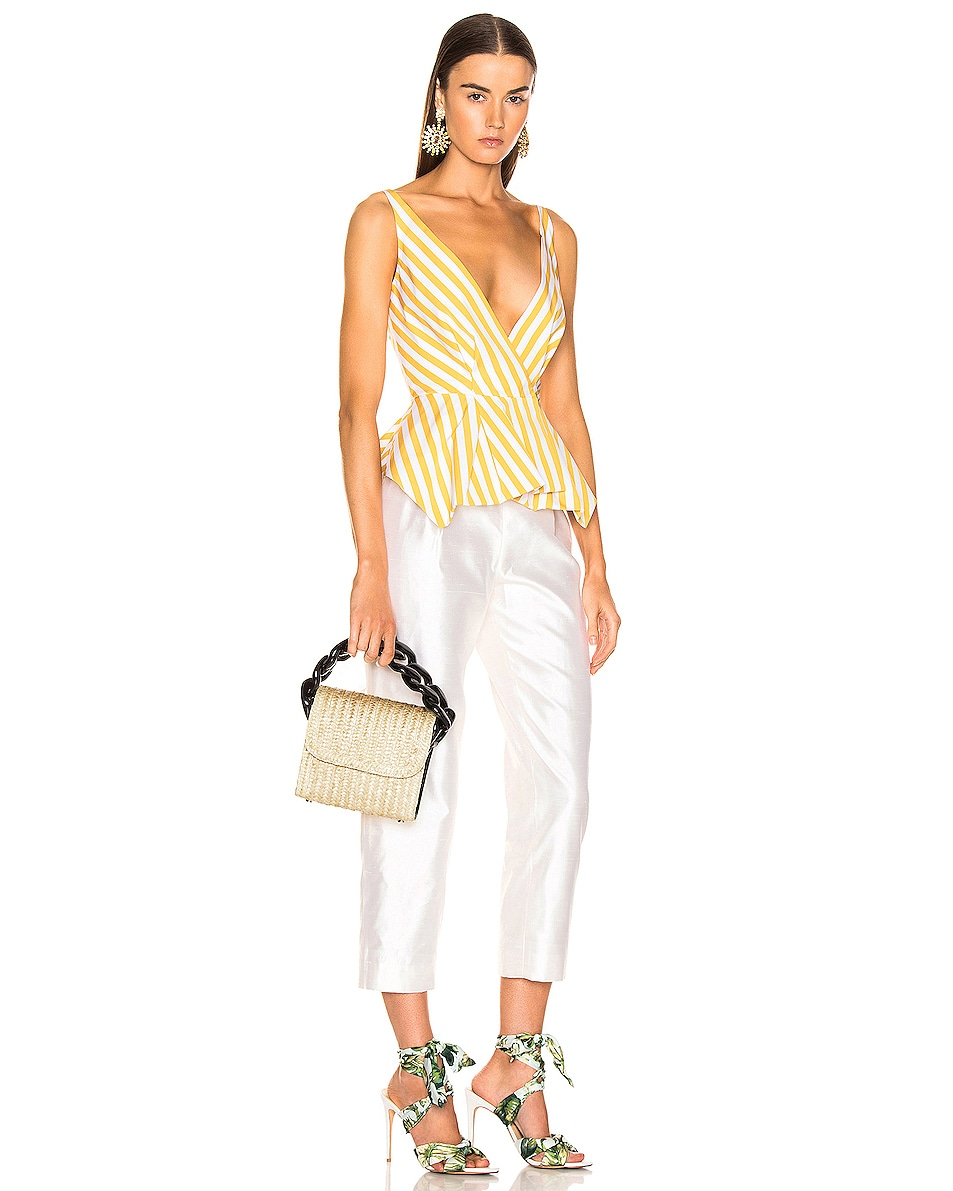 Image 2 of Marques ' Almeida Chain Bag in Straw