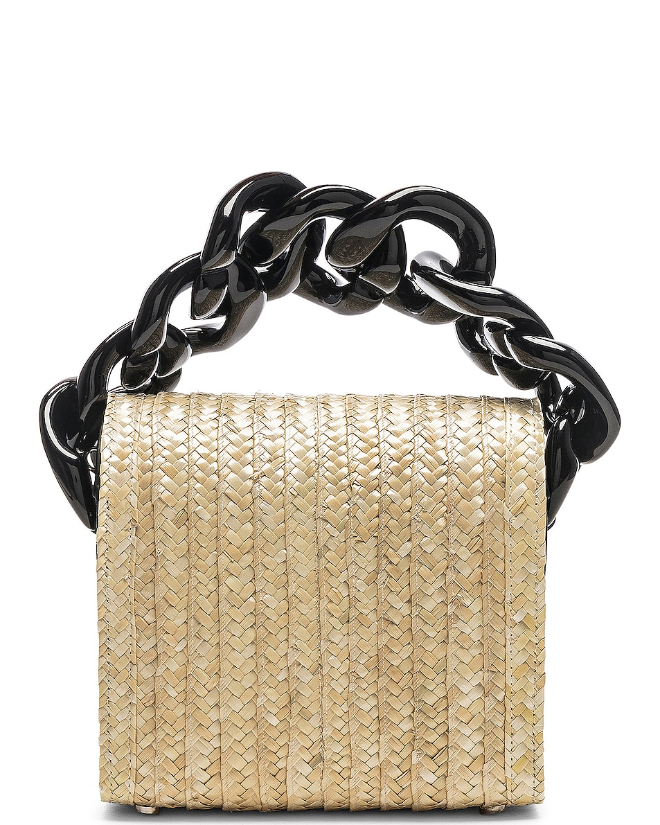Image 3 of Marques ' Almeida Chain Bag in Straw