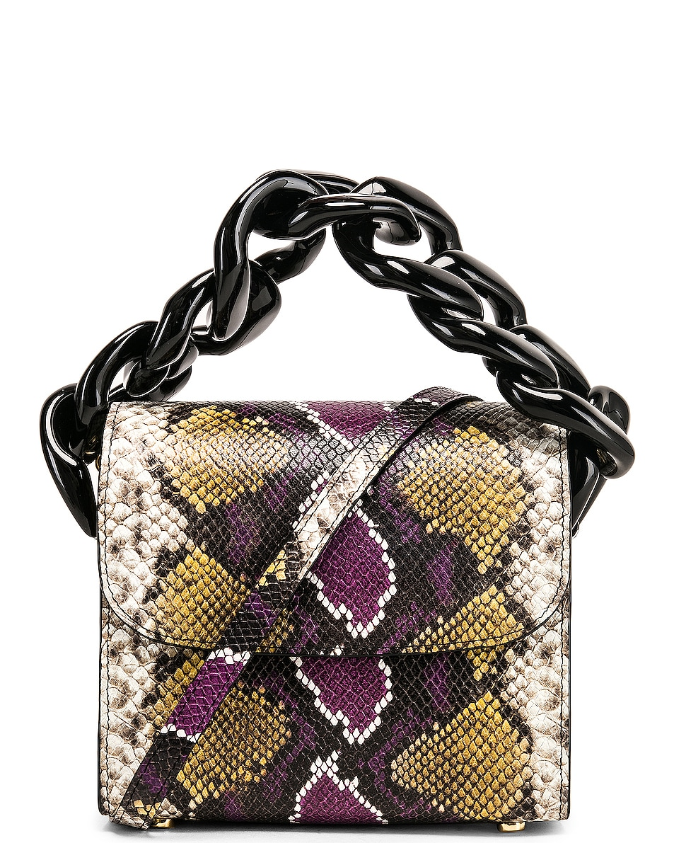 Image 1 of Marques ' Almeida Chain Bag in Purple & Brown