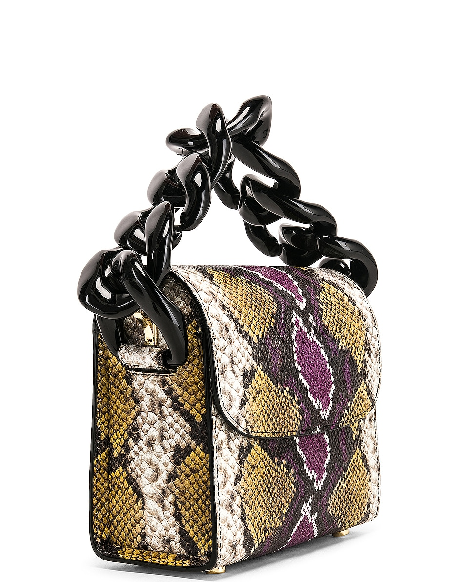 Image 4 of Marques ' Almeida Chain Bag in Purple & Brown