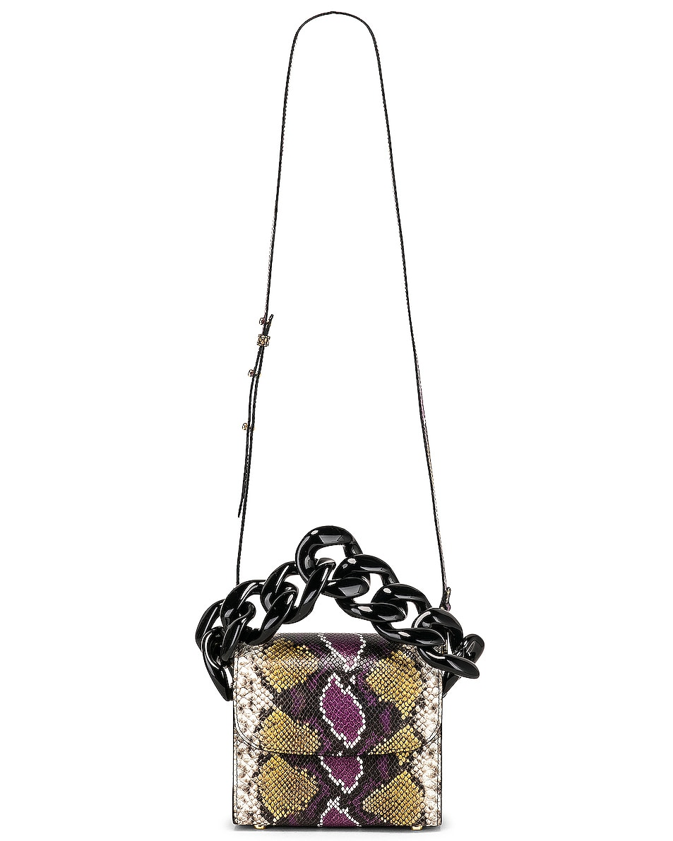 Image 6 of Marques ' Almeida Chain Bag in Purple & Brown