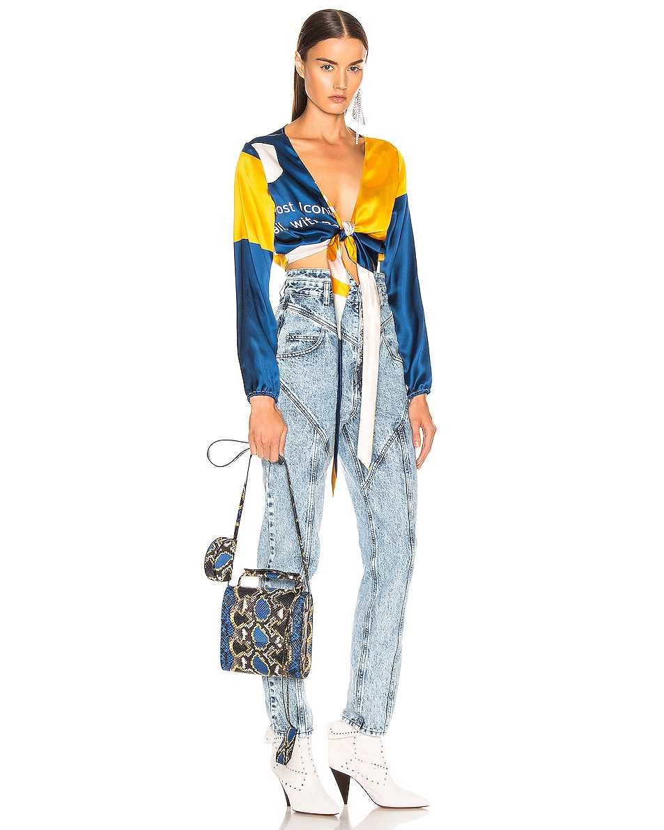 Image 2 of Marques ' Almeida MA Bag in Blue & Yellow