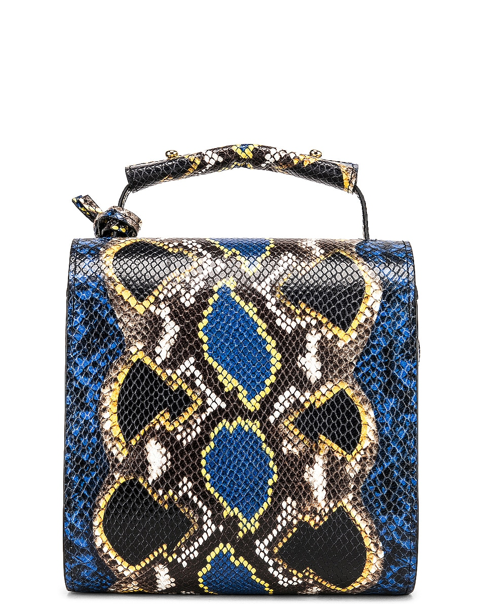 Image 3 of Marques ' Almeida MA Bag in Blue & Yellow