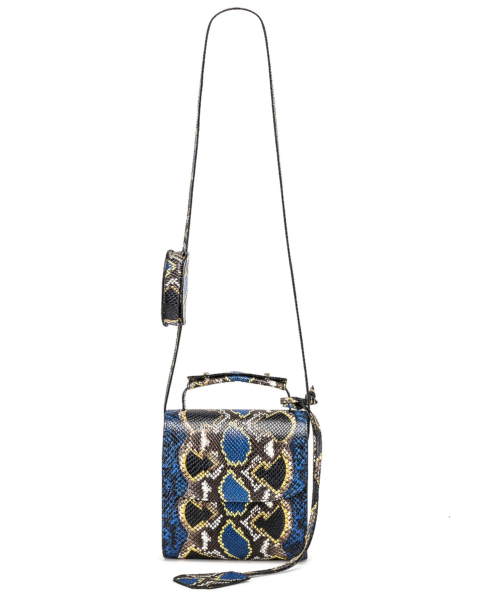 Image 6 of Marques ' Almeida MA Bag in Blue & Yellow