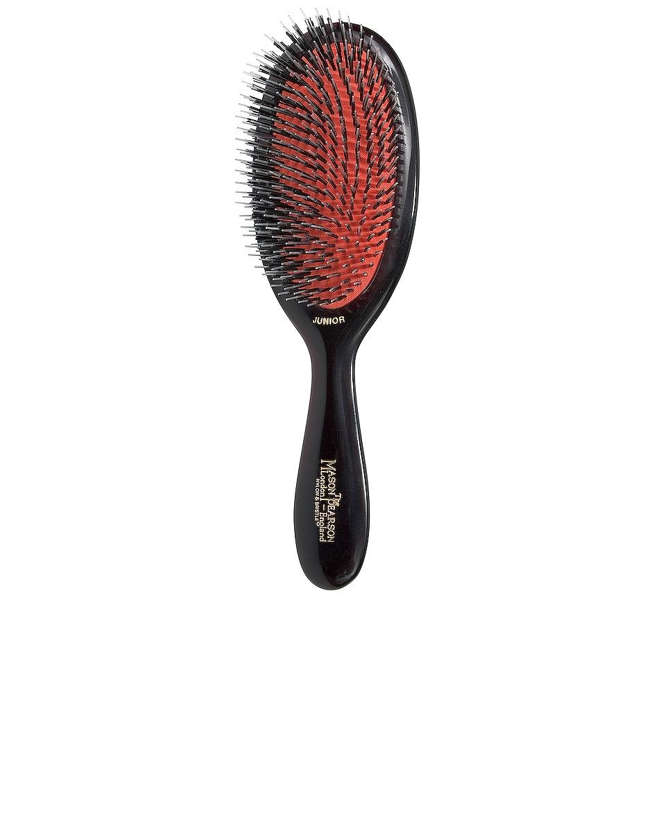 Image 1 of Mason Pearson Junior Mixture Bristle & Nylon Hair Brush in Dark Ruby