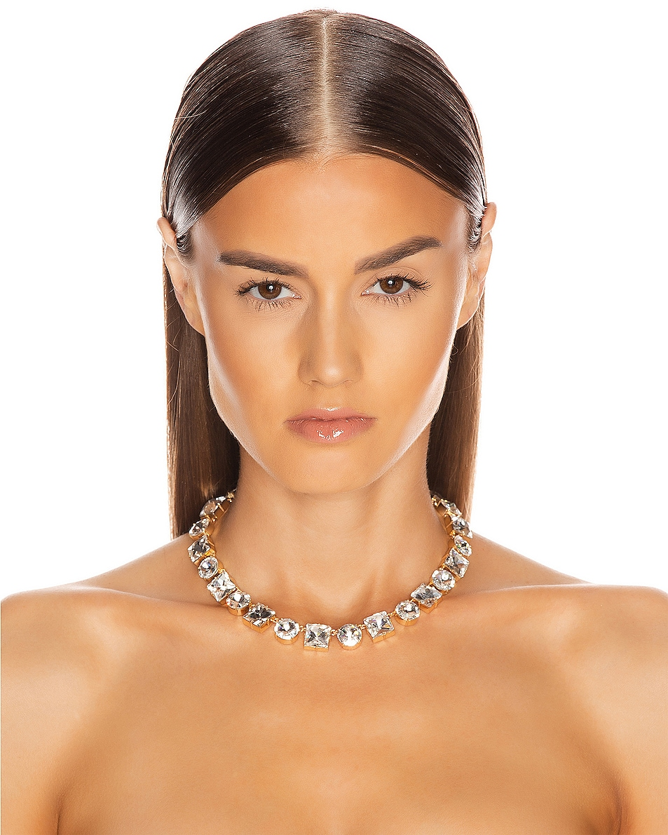 Image 2 of Ninon Anna Crystal Necklace in Diamond
