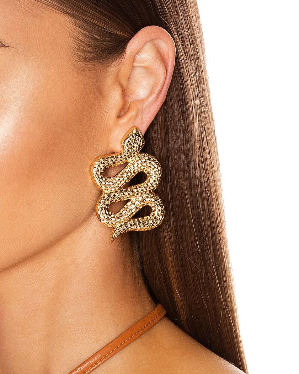 Image 2 of Ninon Serpent of Eden Earrings in Gold