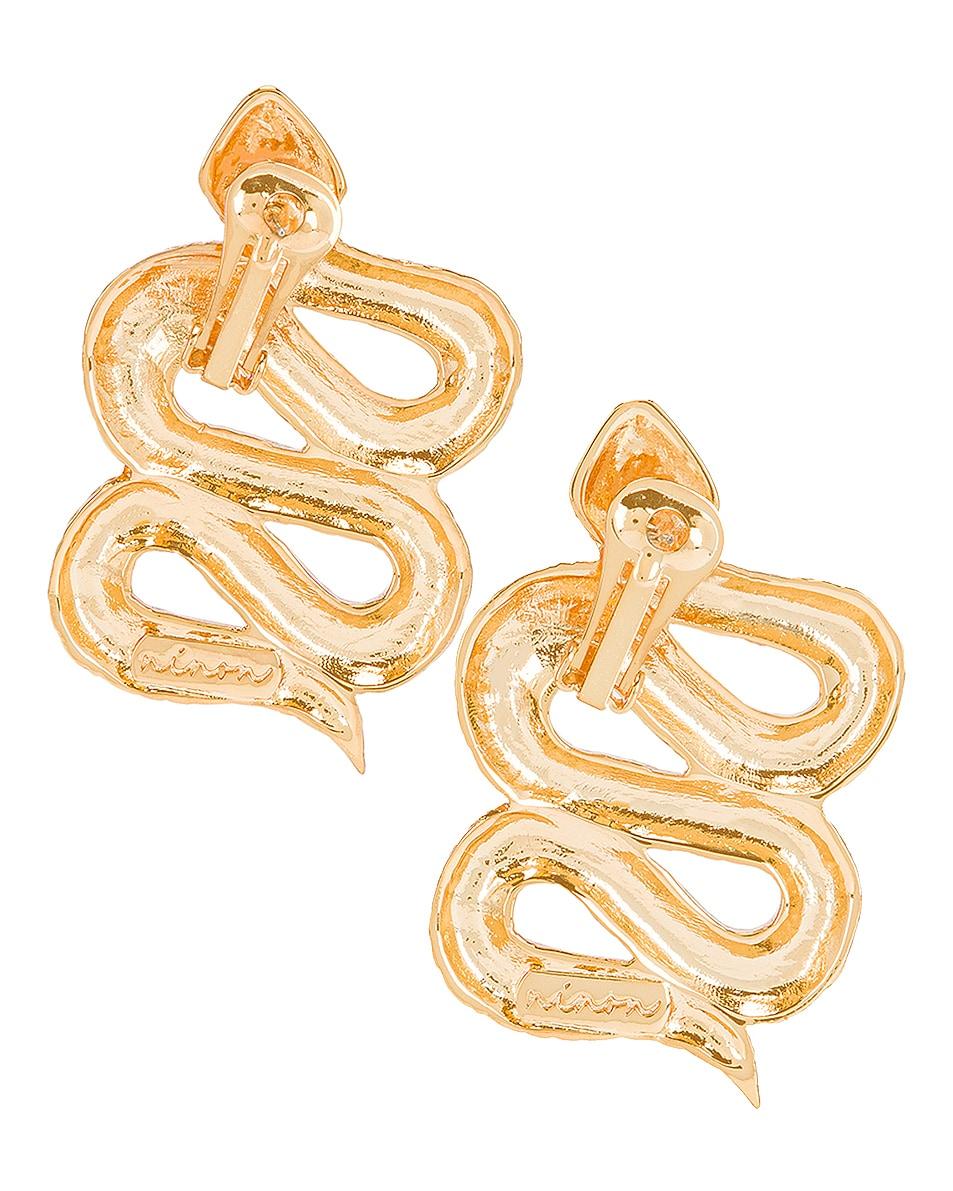 Image 4 of Ninon Serpent of Eden Earrings in Gold