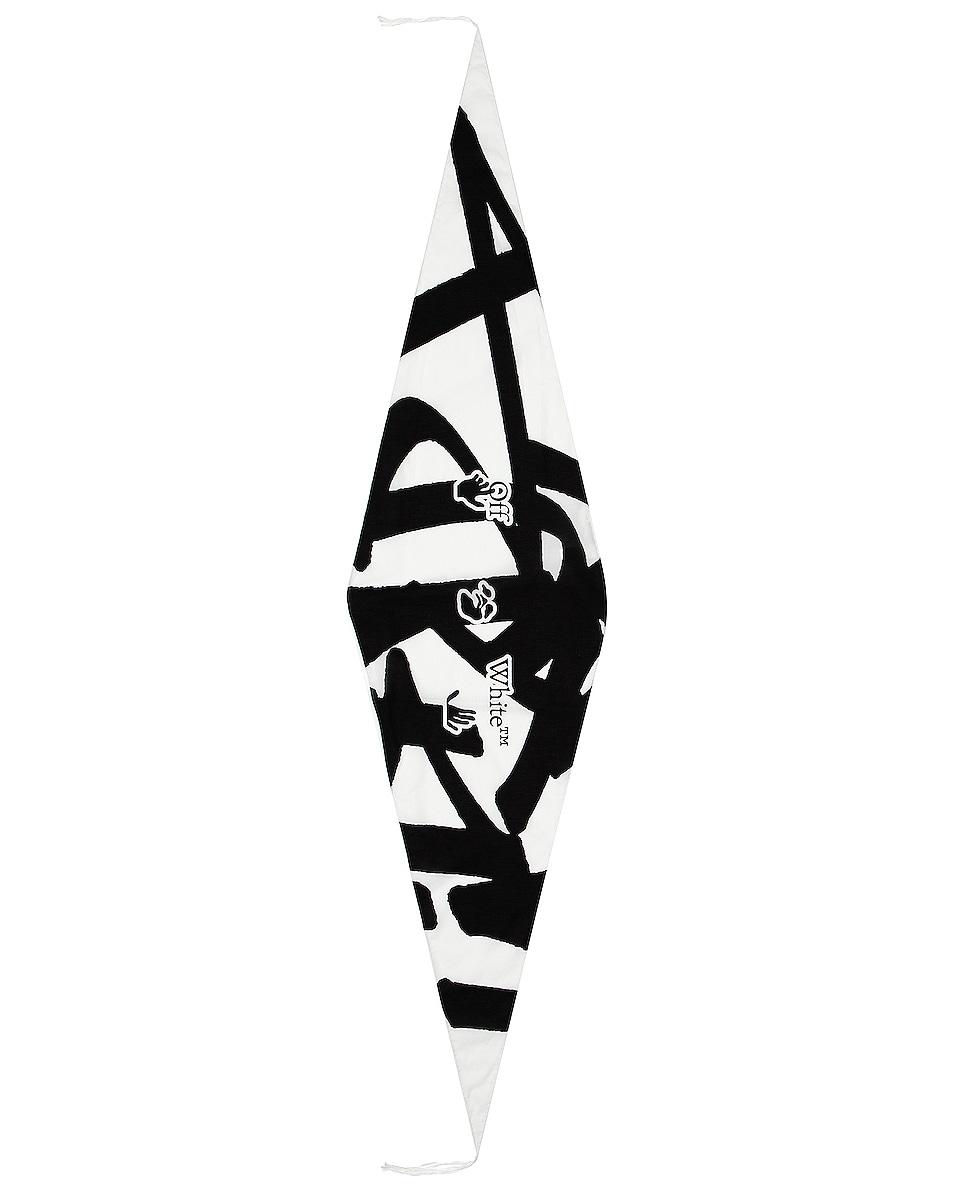 Image 1 of OFF-WHITE Katsu Bandana in White & Black