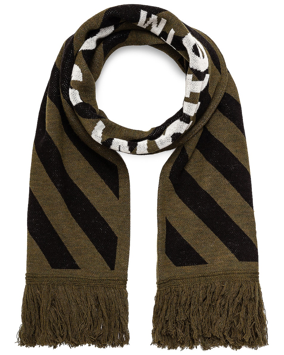 Image 1 of OFF-WHITE Arrow Scarf in Military Green