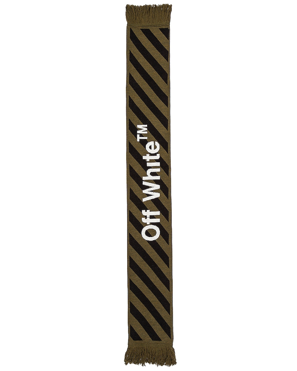 Image 2 of OFF-WHITE Arrow Scarf in Military Green