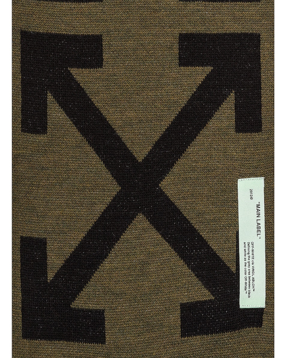 Image 4 of OFF-WHITE Arrow Scarf in Military Green
