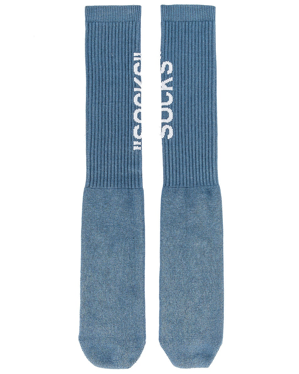 Image 2 of OFF-WHITE FWRD EXCLUSIVE Socks in Blue
