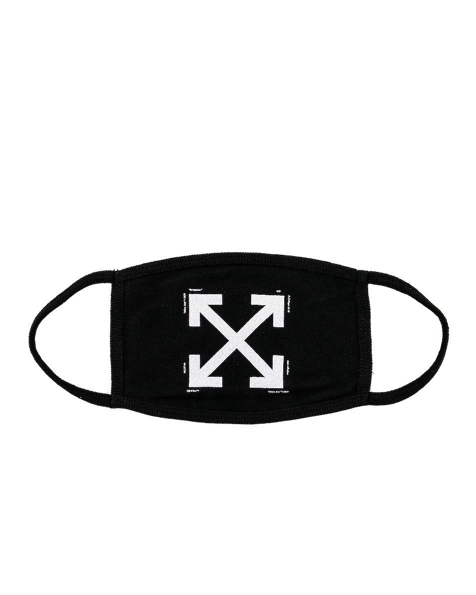 Image 1 of OFF-WHITE Arrow Mask in Black & White