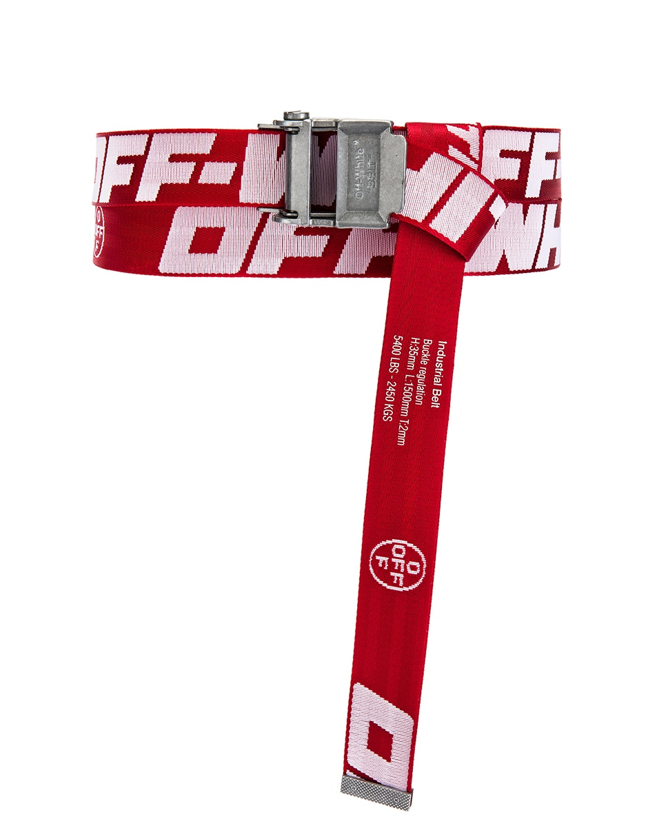 Image 1 of OFF-WHITE 2.0 Industrial Belt in Red & White