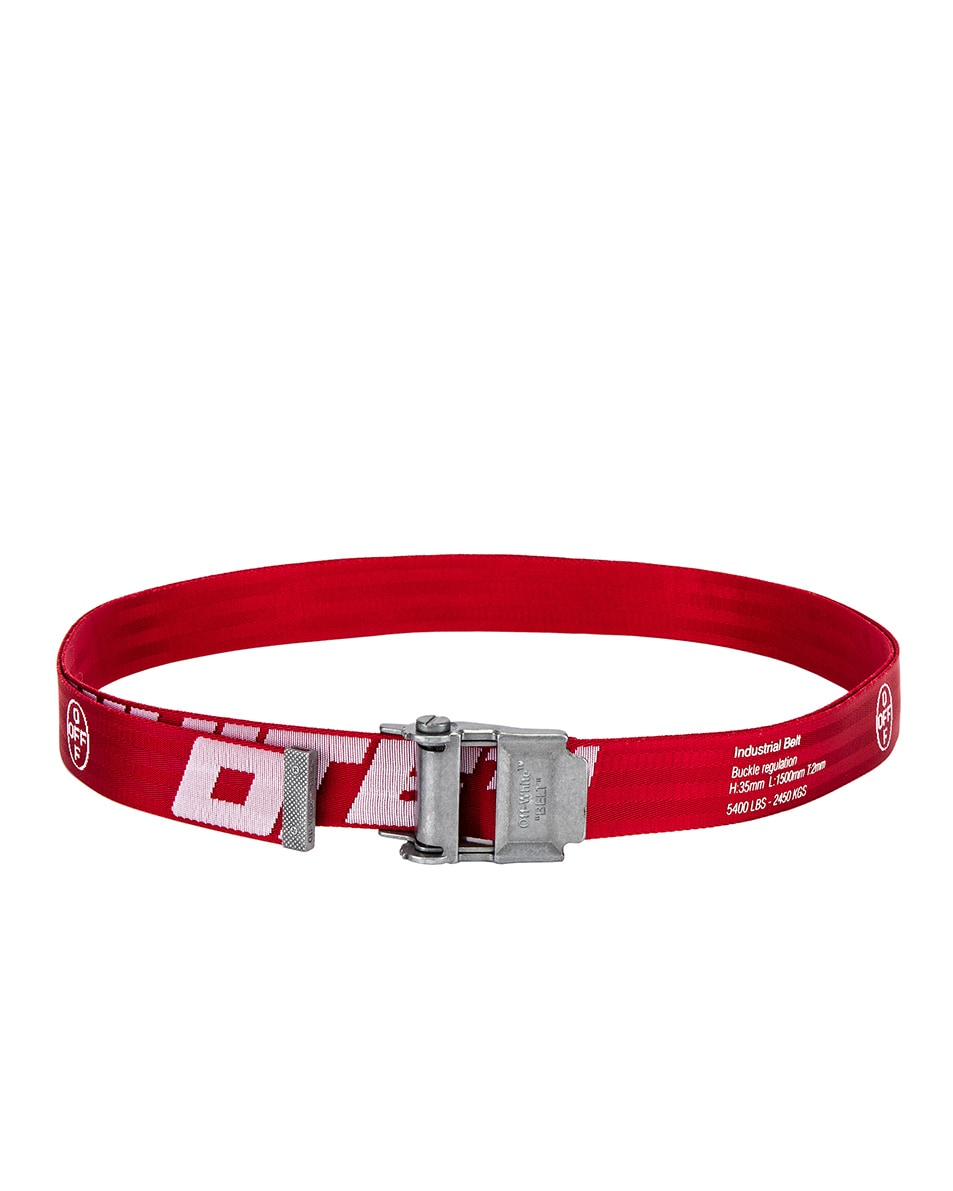 Image 2 of OFF-WHITE 2.0 Industrial Belt in Red & White