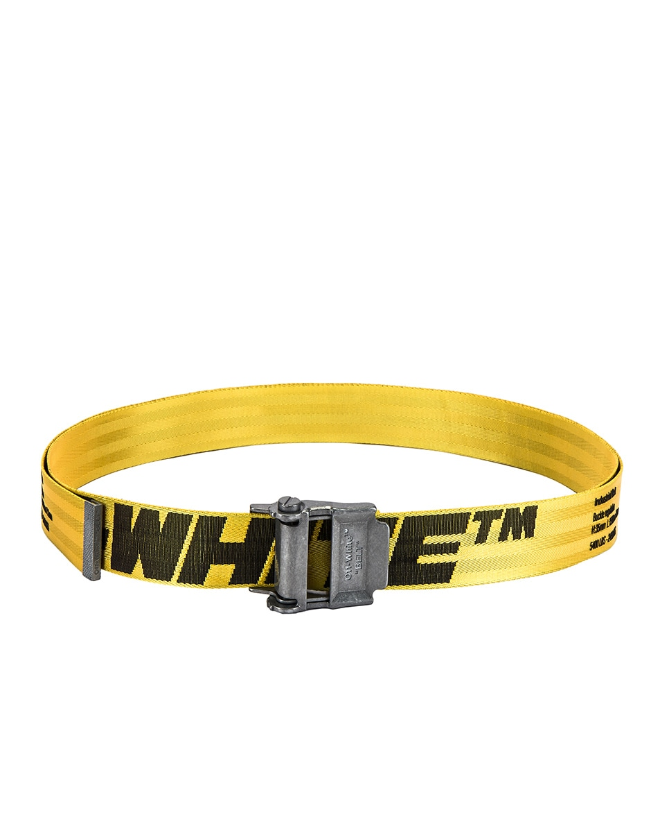 Image 2 of OFF-WHITE 2.0 Industrial Belt in Yellow & Black