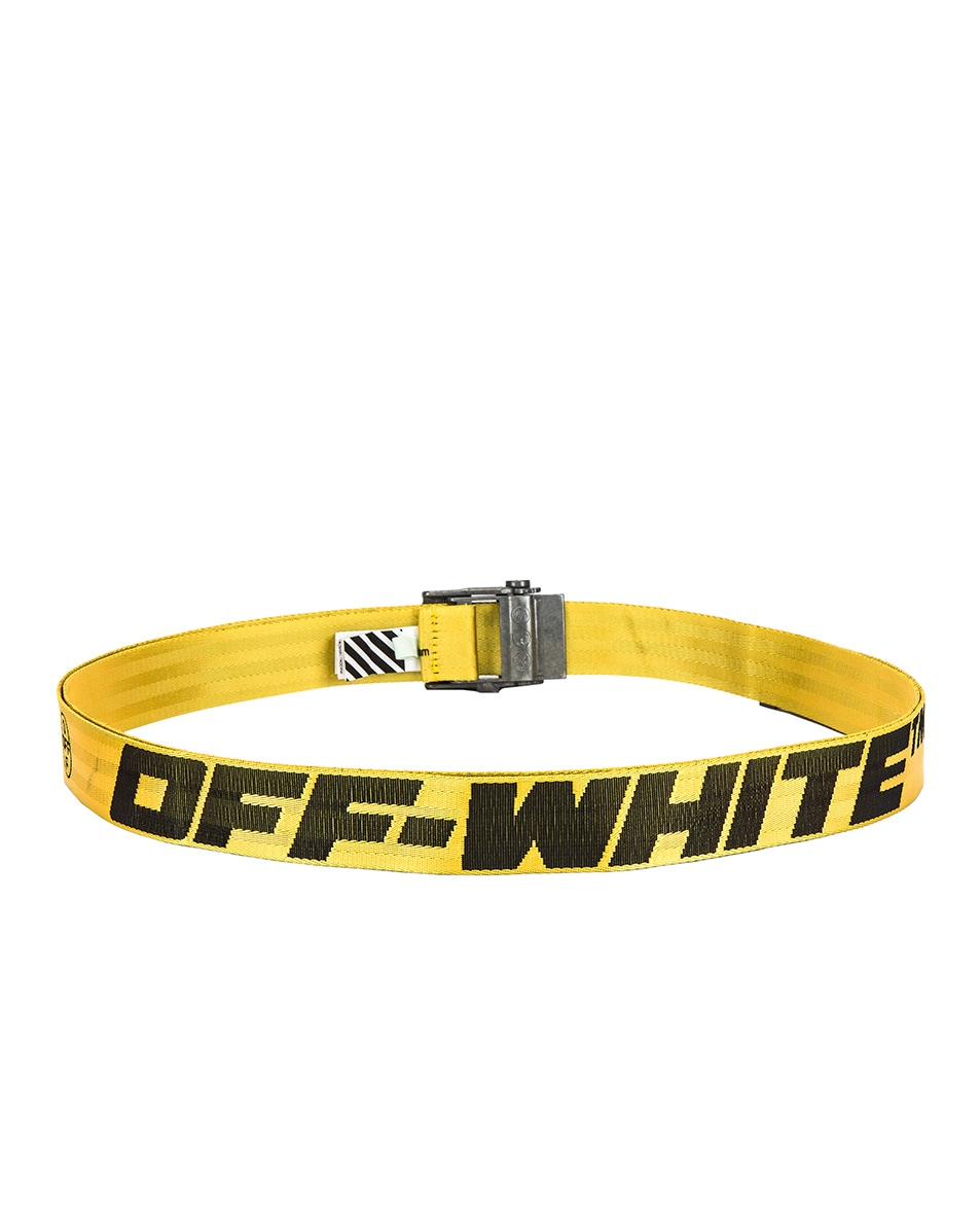 Image 3 of OFF-WHITE 2.0 Industrial Belt in Yellow & Black