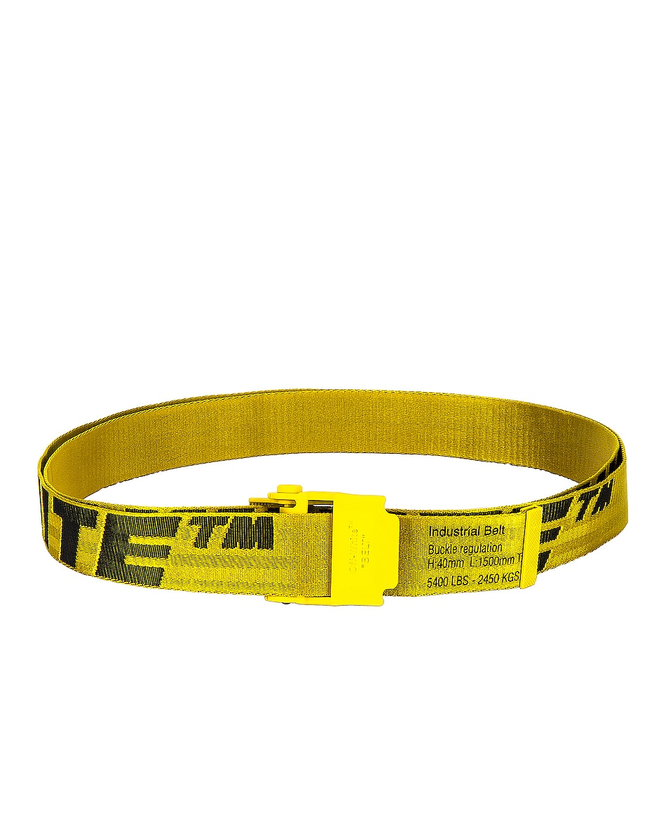 Image 1 of OFF-WHITE 2.0 Industrial Belt in Yellow & Black
