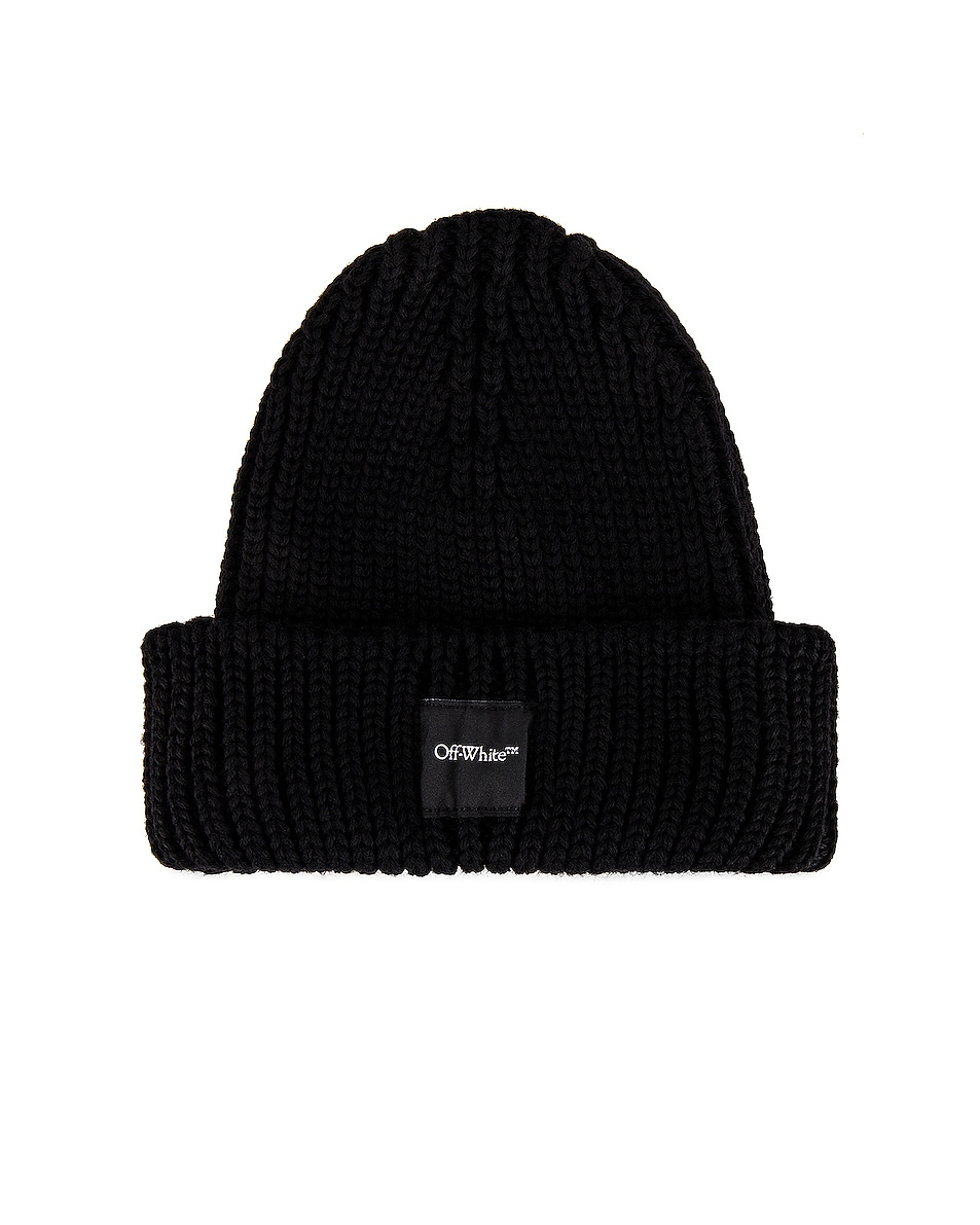 Image 1 of OFF-WHITE Rib Beanie in Black