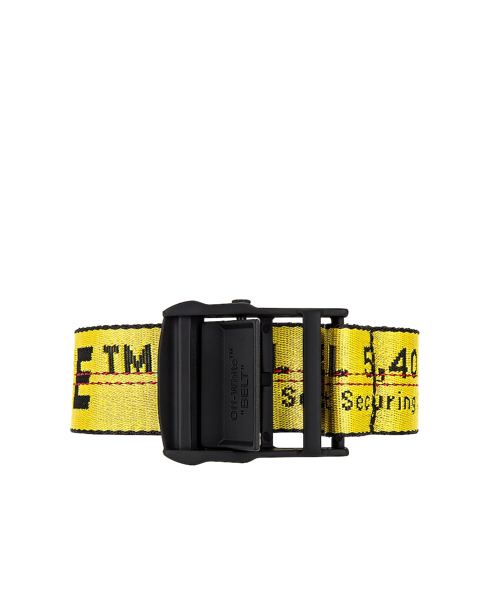 Image 1 of OFF-WHITE Classic Industrial Belt in Yellow & Black