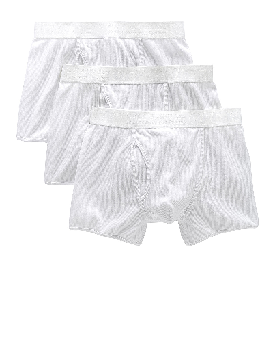Image 1 of OFF-WHITE Boxer Shorts 3-Pack in White