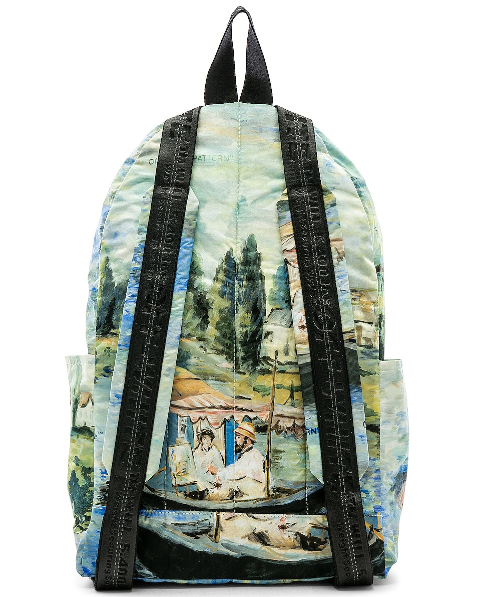 Image 3 of OFF-WHITE Lake Backpack in All Over Multi