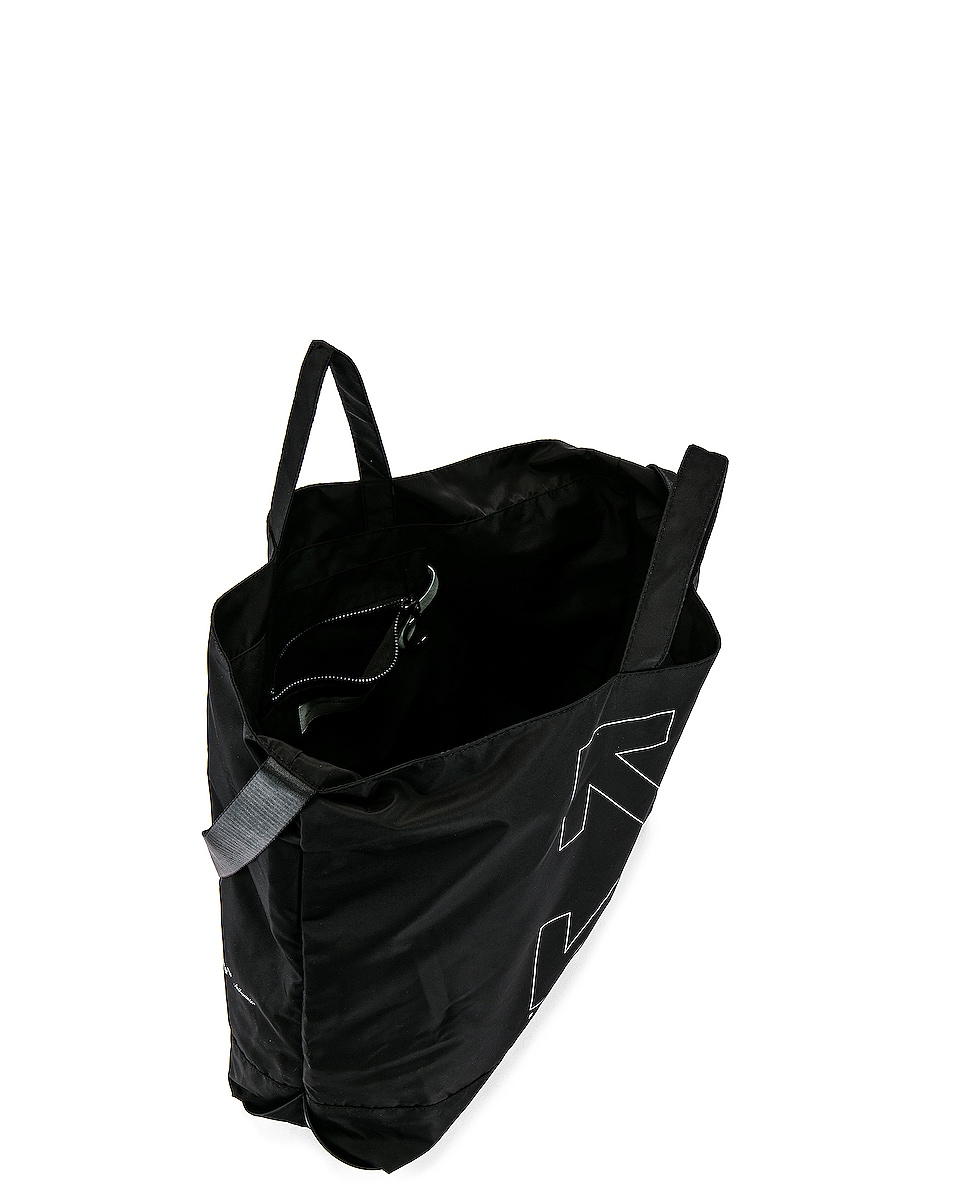 Image 4 of OFF-WHITE Unfinished Tote Bag in Black & Silver