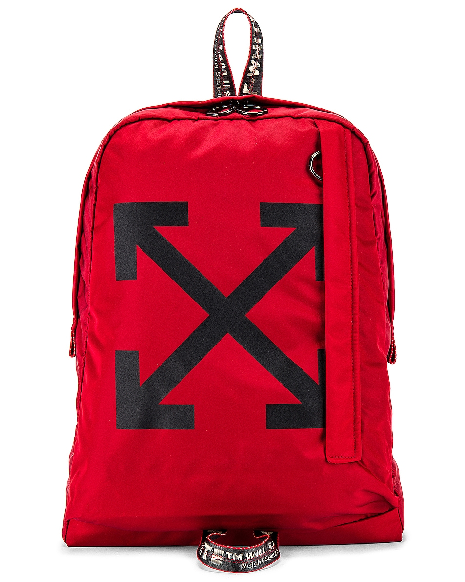Image 1 of OFF-WHITE Easy Backpack in Red & Black