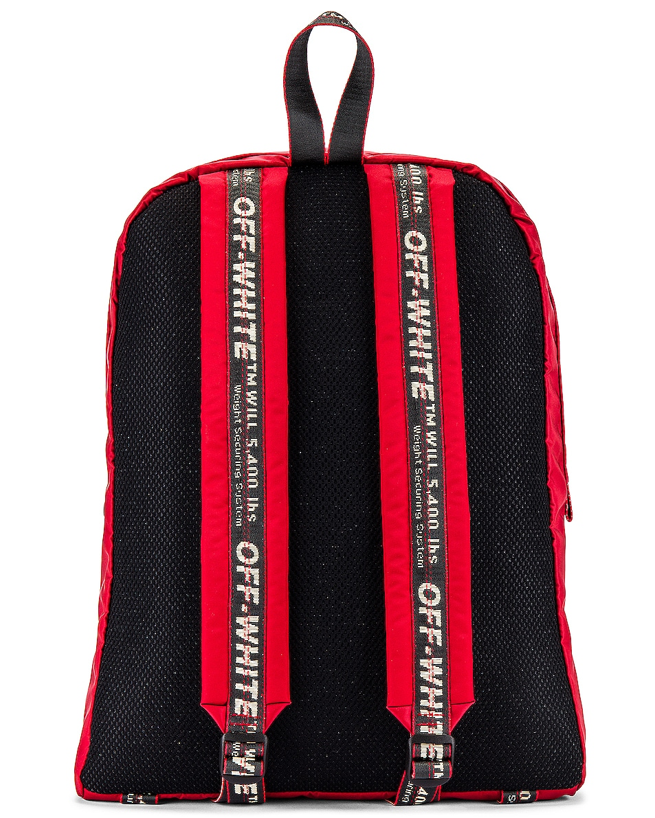 Image 2 of OFF-WHITE Easy Backpack in Red & Black