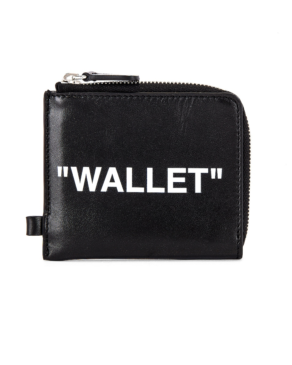 Image 2 of OFF-WHITE Quote Chain Wallet in Black