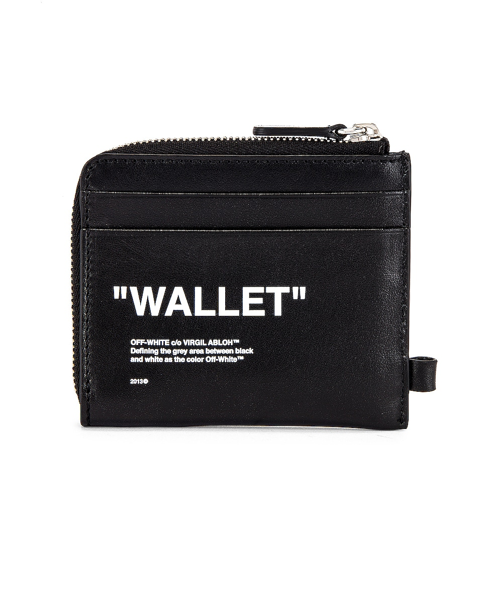 Image 3 of OFF-WHITE Quote Chain Wallet in Black