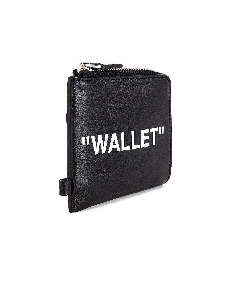 Image 4 of OFF-WHITE Quote Chain Wallet in Black