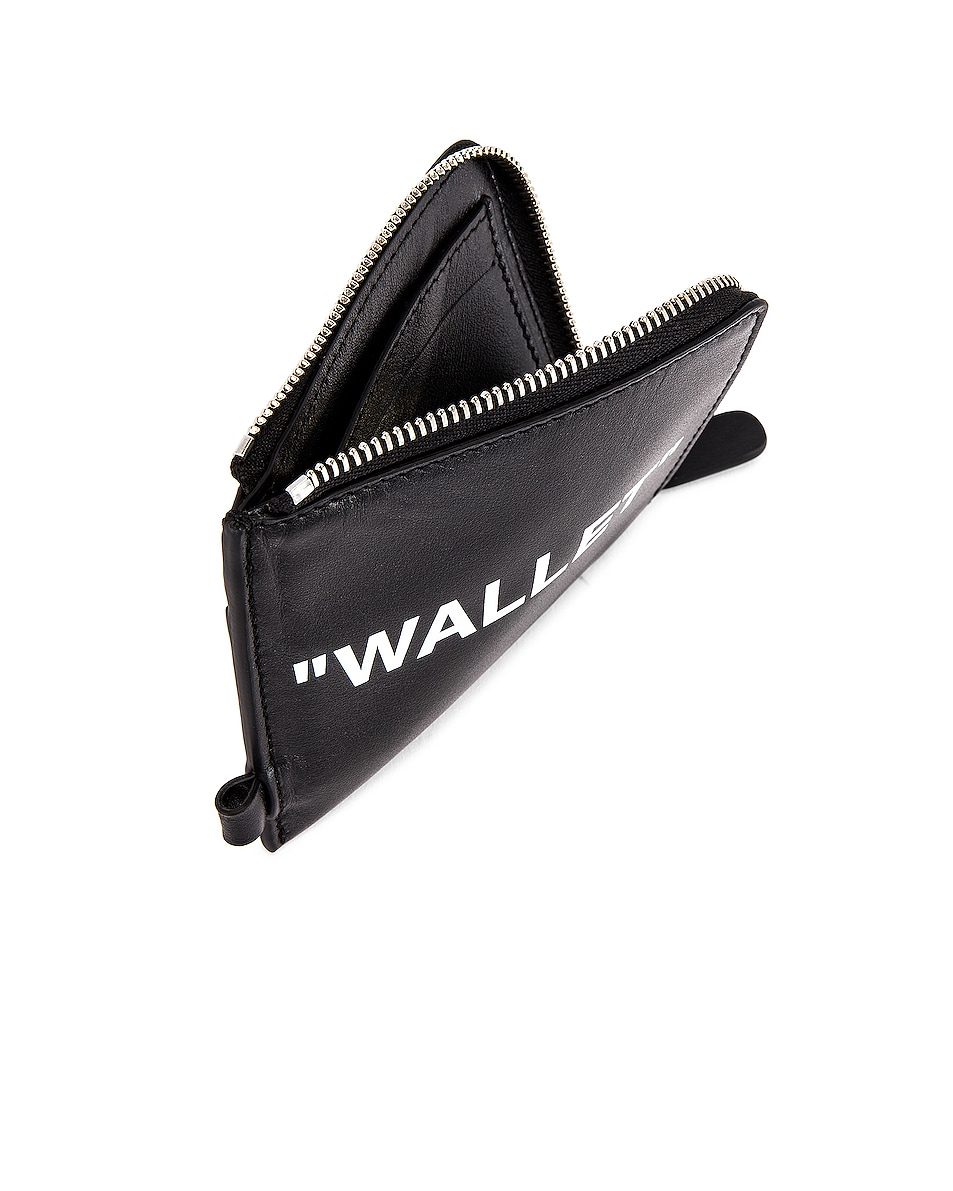 Image 5 of OFF-WHITE Quote Chain Wallet in Black