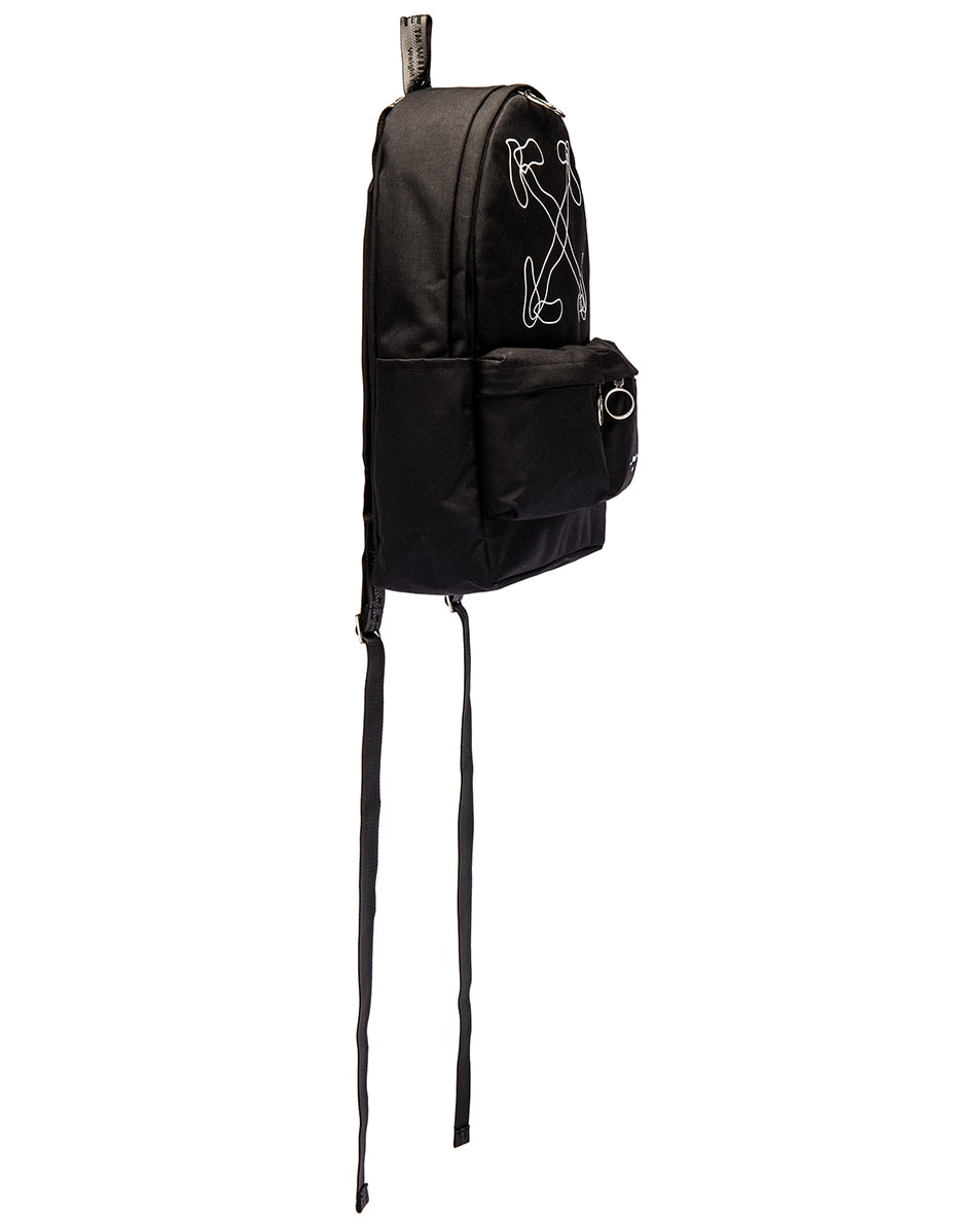 Image 3 of OFF-WHITE Abstract Arrows Backpack in Black & White