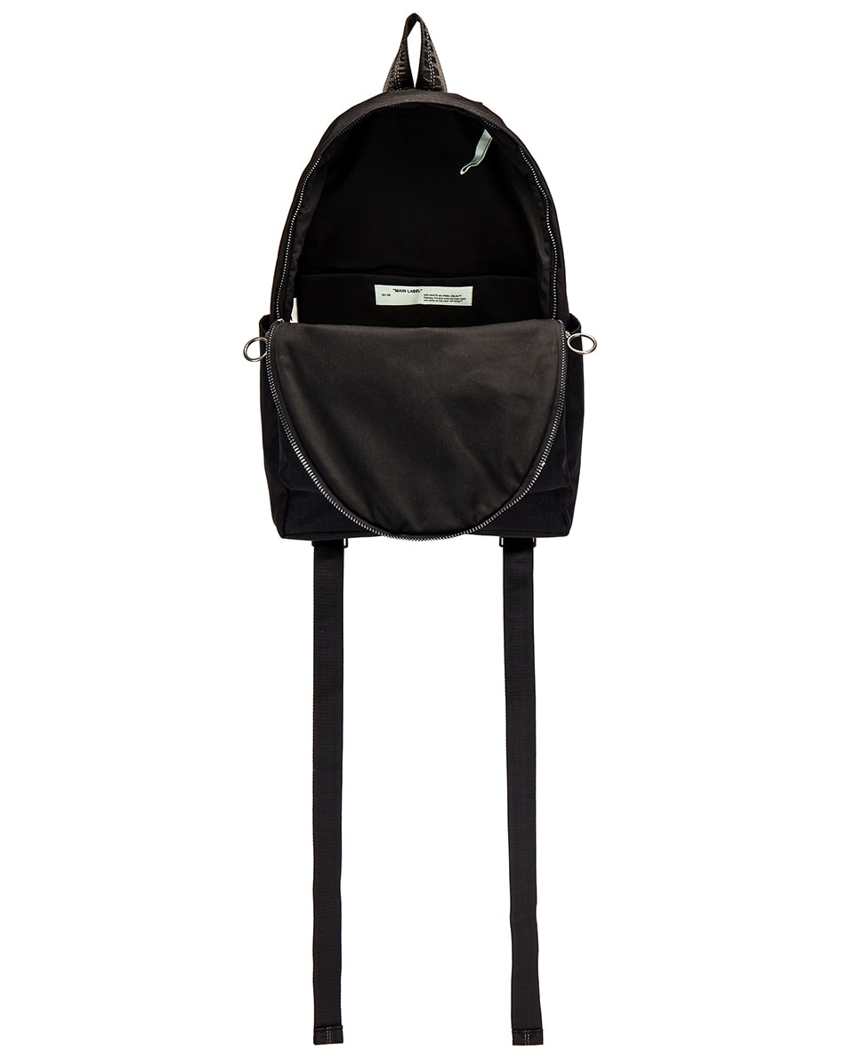Image 4 of OFF-WHITE Abstract Arrows Backpack in Black & White