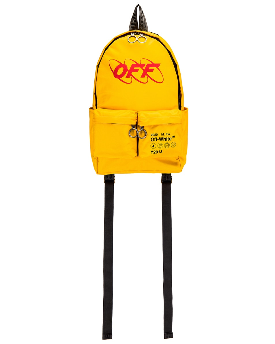 Image 1 of OFF-WHITE Industrial Y013 Backpack in Yellow & Red