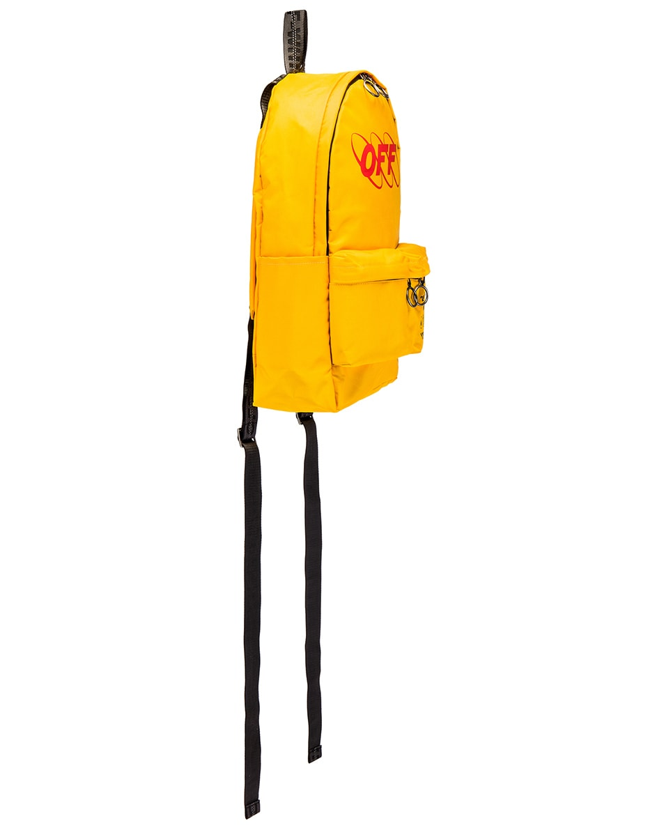 Image 3 of OFF-WHITE Industrial Y013 Backpack in Yellow & Red