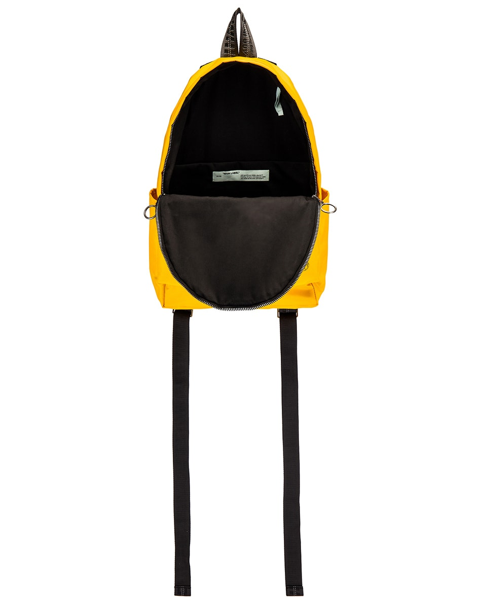 Image 4 of OFF-WHITE Industrial Y013 Backpack in Yellow & Red