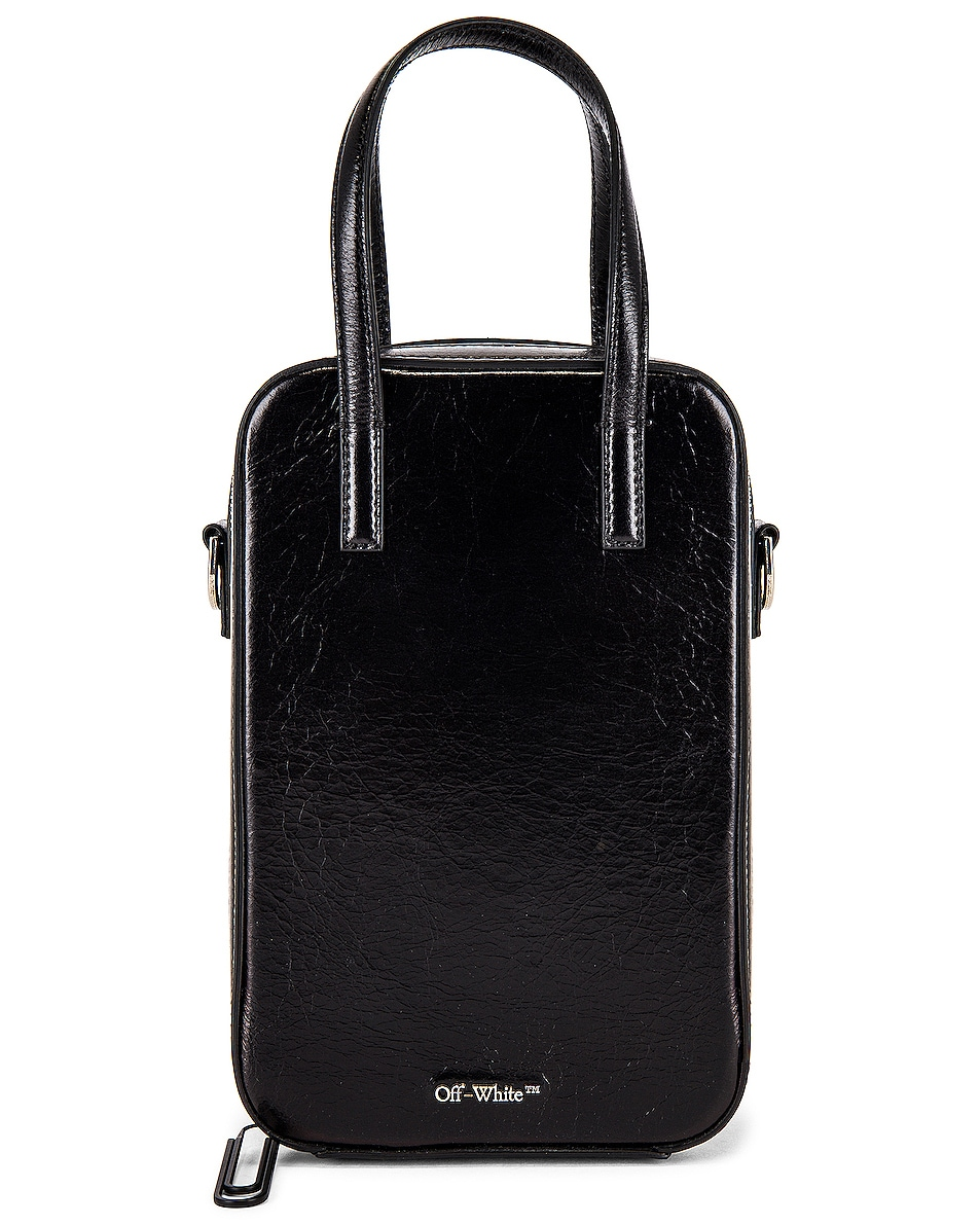 Image 1 of OFF-WHITE Vintage Leather Baby Tote Bag in Black