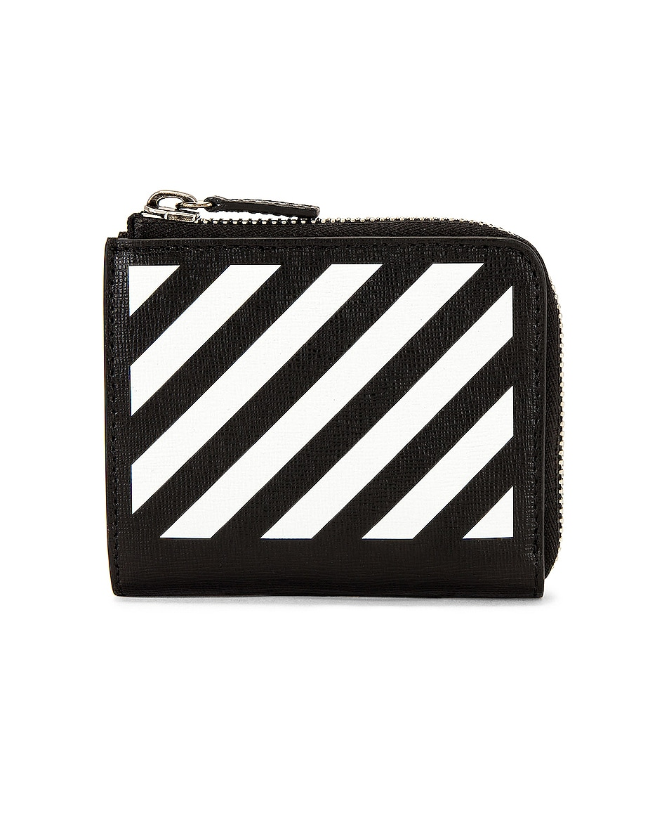 Image 1 of OFF-WHITE Diag Wallet in Black & White