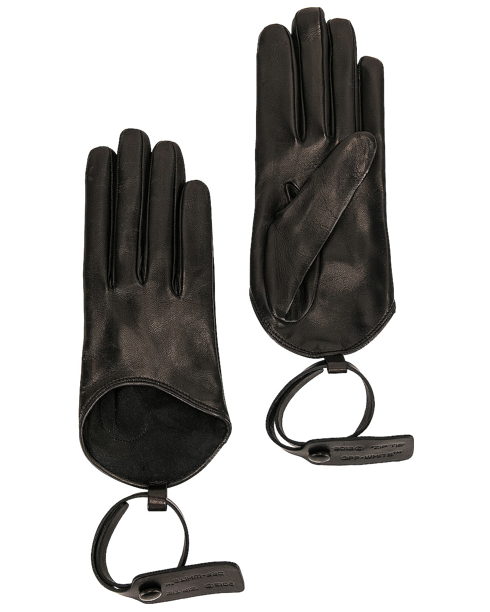 Image 1 of OFF-WHITE Nappa Gloves in Black