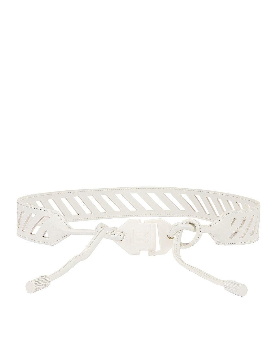 Image 1 of OFF-WHITE Butcher Belt in White
