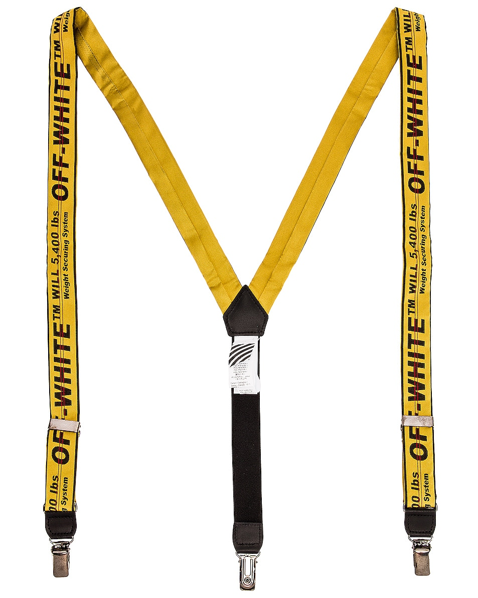 Image 1 of OFF-WHITE Industrial Braces Suspender in Yellow & Black