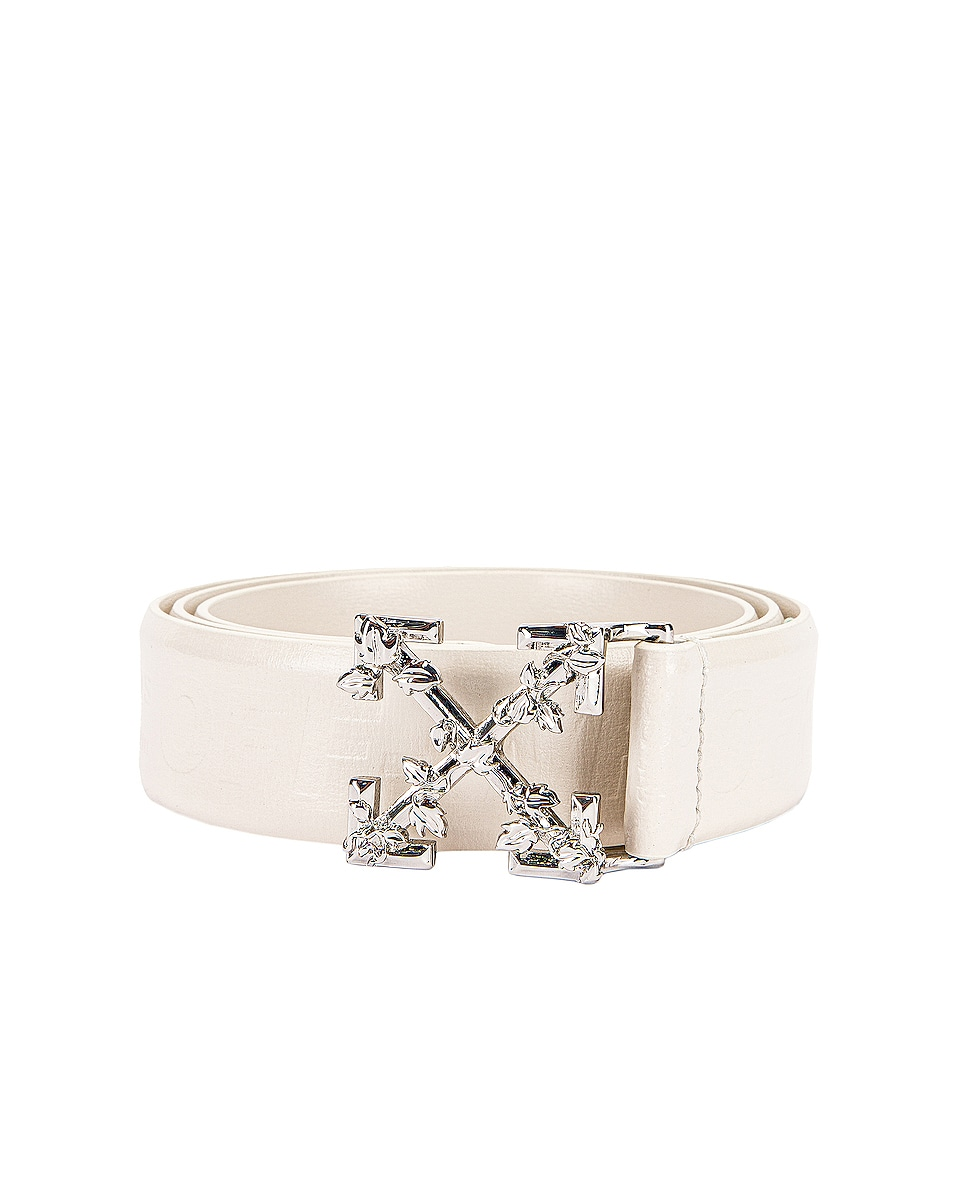 Image 1 of OFF-WHITE Leather Industrial Belt in Off White