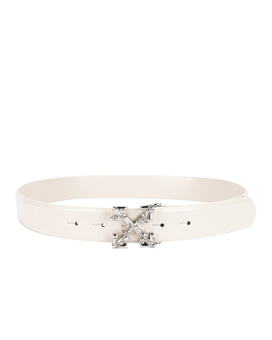 Image 2 of OFF-WHITE Leather Industrial Belt in Off White
